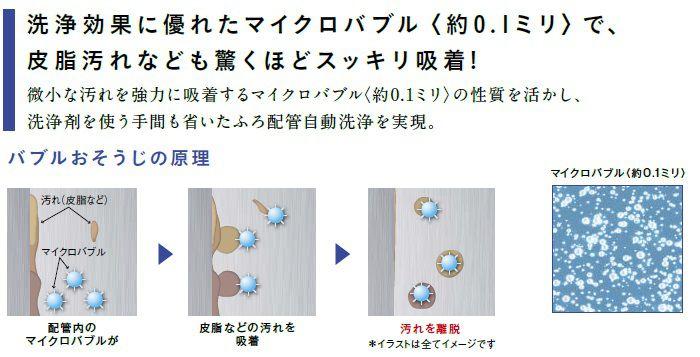 洗浄効果に優れたマイクロバブルで皮脂汚れなども驚くほどスッキリ吸着