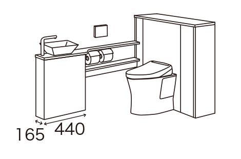 手洗い器キャビネットMサイズ