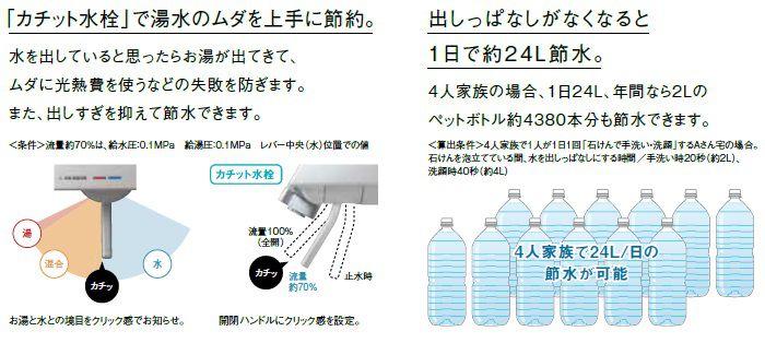 カチット水栓で湯水の無駄を上手に節約