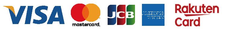 VISA・Mastercard・JCB・American Express・楽天カード