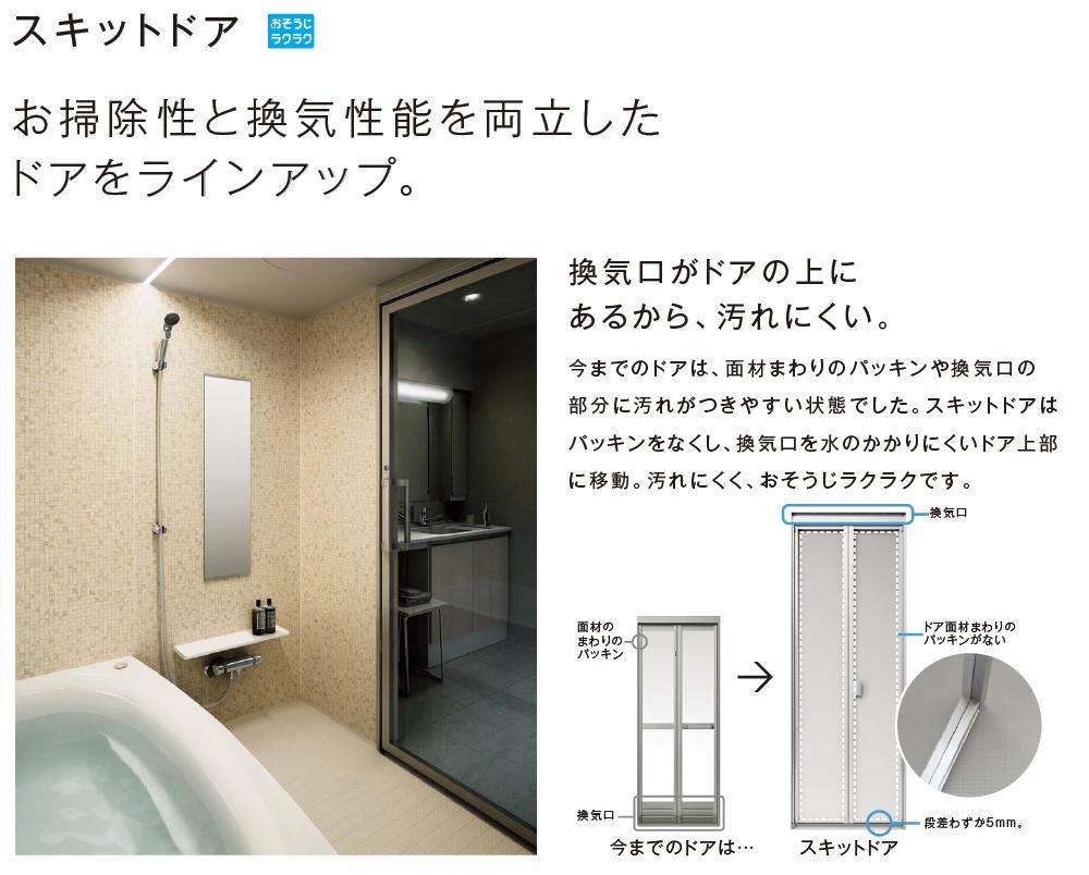 お掃除性と換気性能を両立したドアをラインナップ