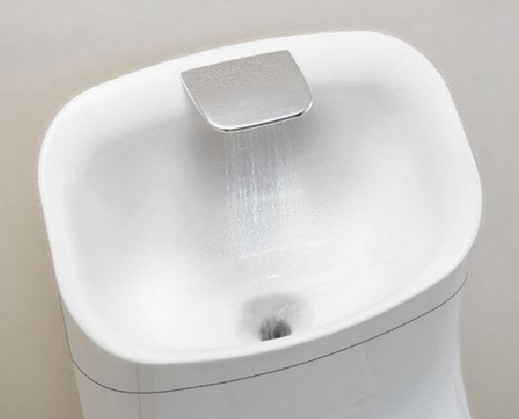 手洗いしやすいフォルム